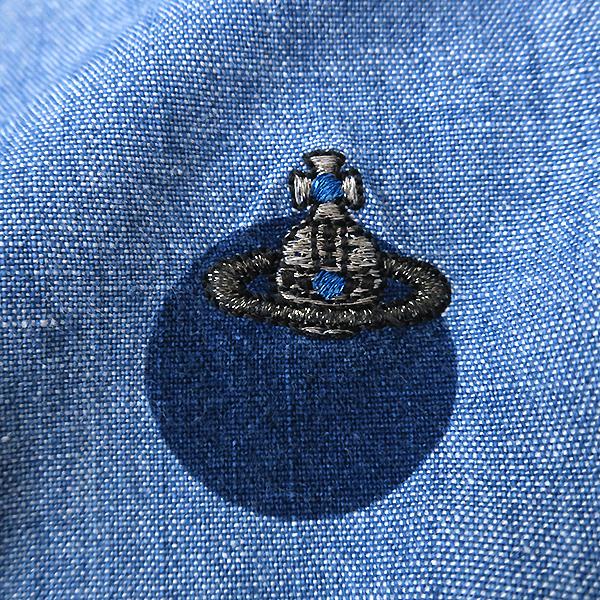 ヴィヴィアンウエストウッド アシンメトリー変形衿◎ドット柄 長袖シャツ 44_画像4