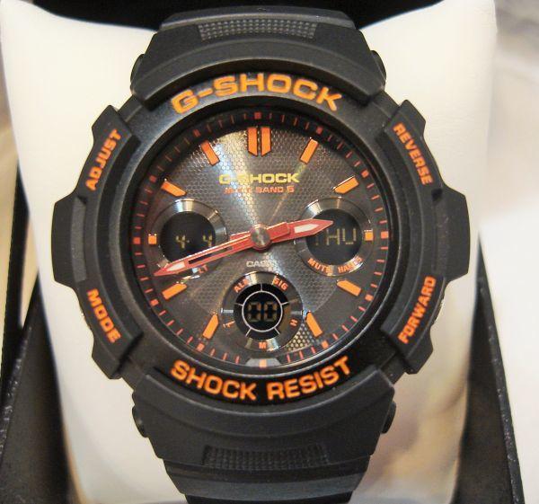 限定カラー CASIO カシオ ジーショック G-SHOCK AWG-M100SBR デジアナ オレンジ 電波ソーラー