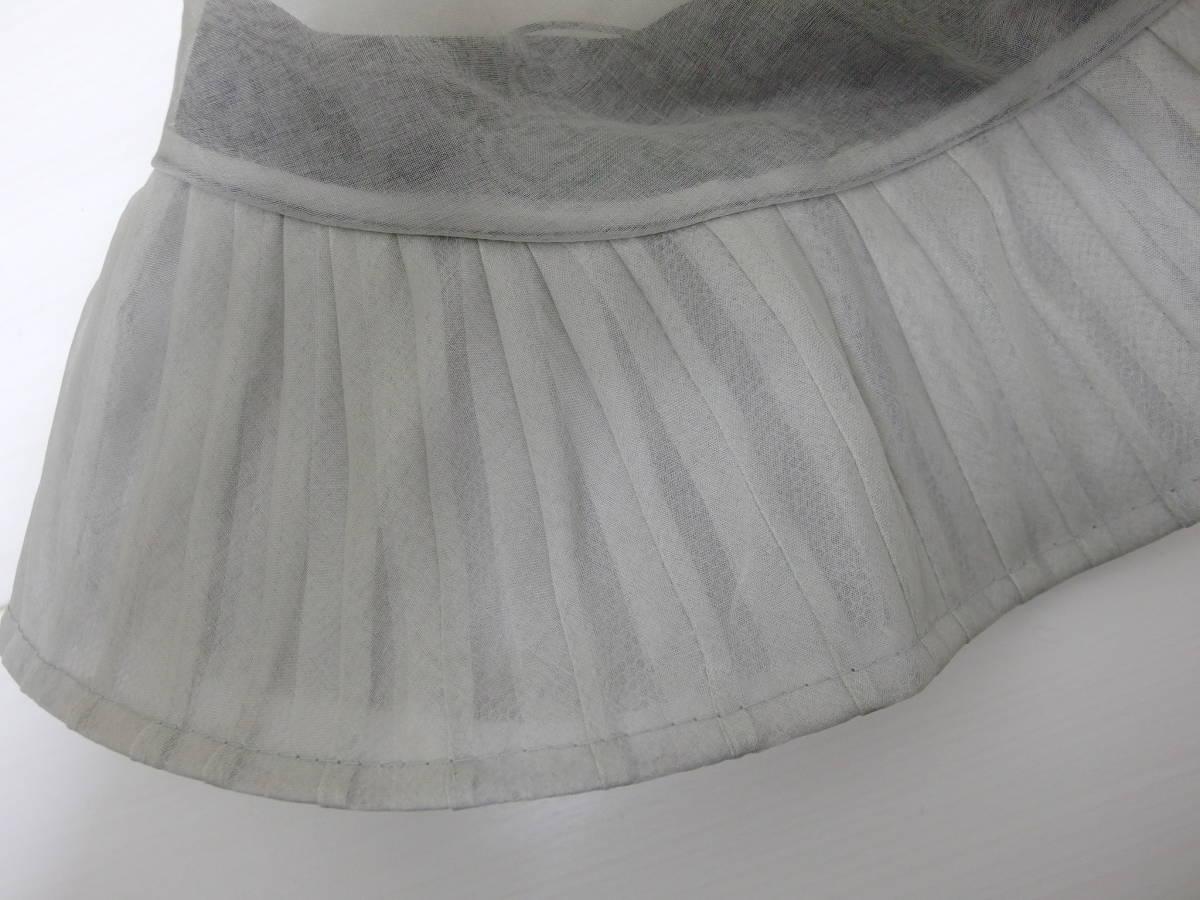 マキシン maxim シルク帽子 ライトグレー シースルー リボン 試着保管品_画像8