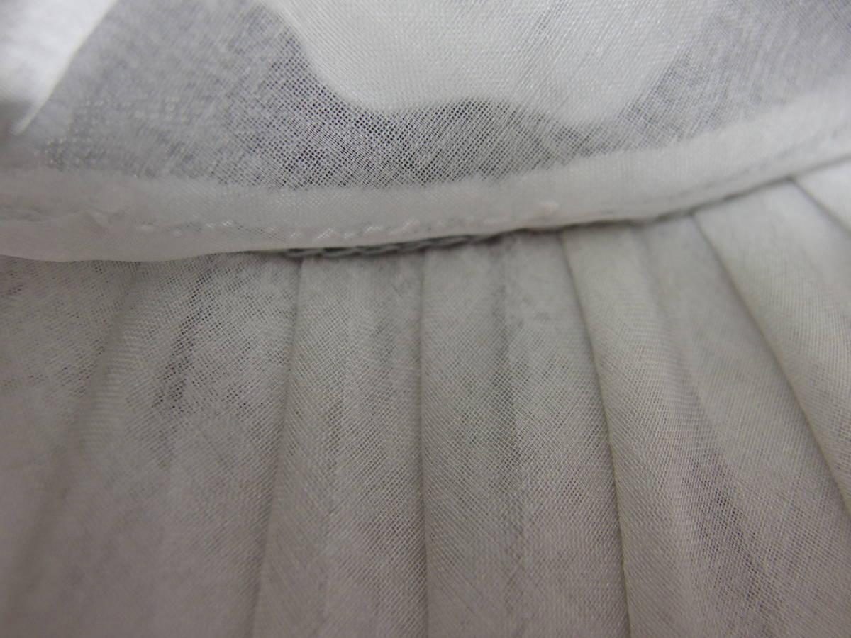 マキシン maxim シルク帽子 ライトグレー シースルー リボン 試着保管品_画像10