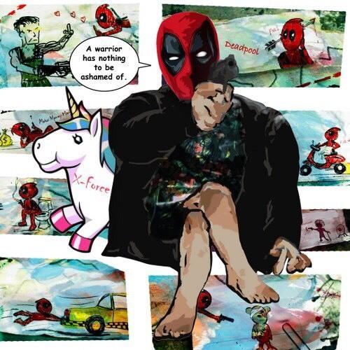デッドプール2 ファブリックパネル(Deadpool・X-MENシリーズ・コメディ映画)壁掛けパネル ポップアートフレームパネル インテリアボード_画像1