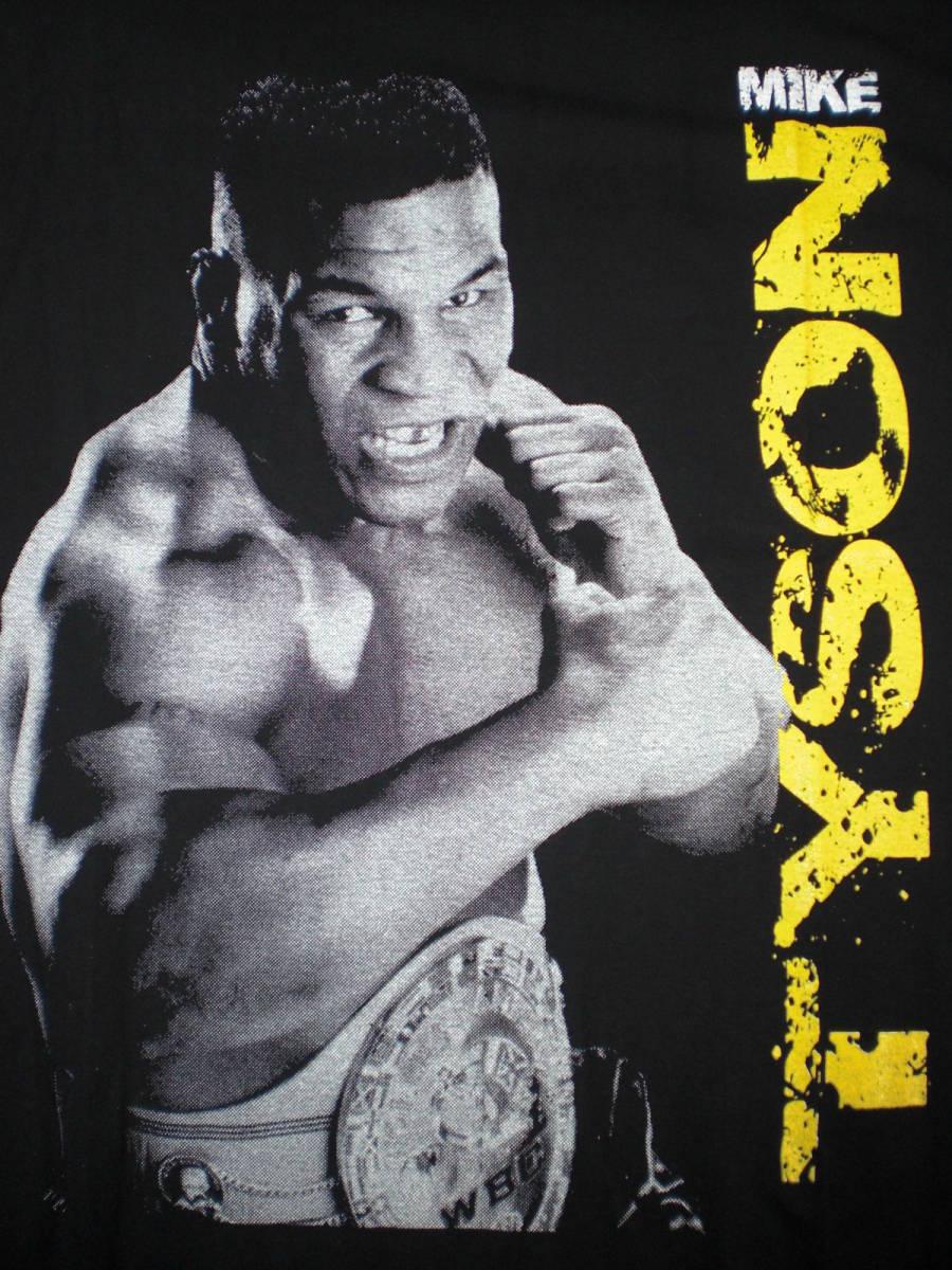 新品 ボクシングTシャツ 黒 ブラック Lサイズ マイク・タイソン 強さの象徴 元統一世界ヘビー級チャンピオン かっこいい 人気 おすすめ_画像2