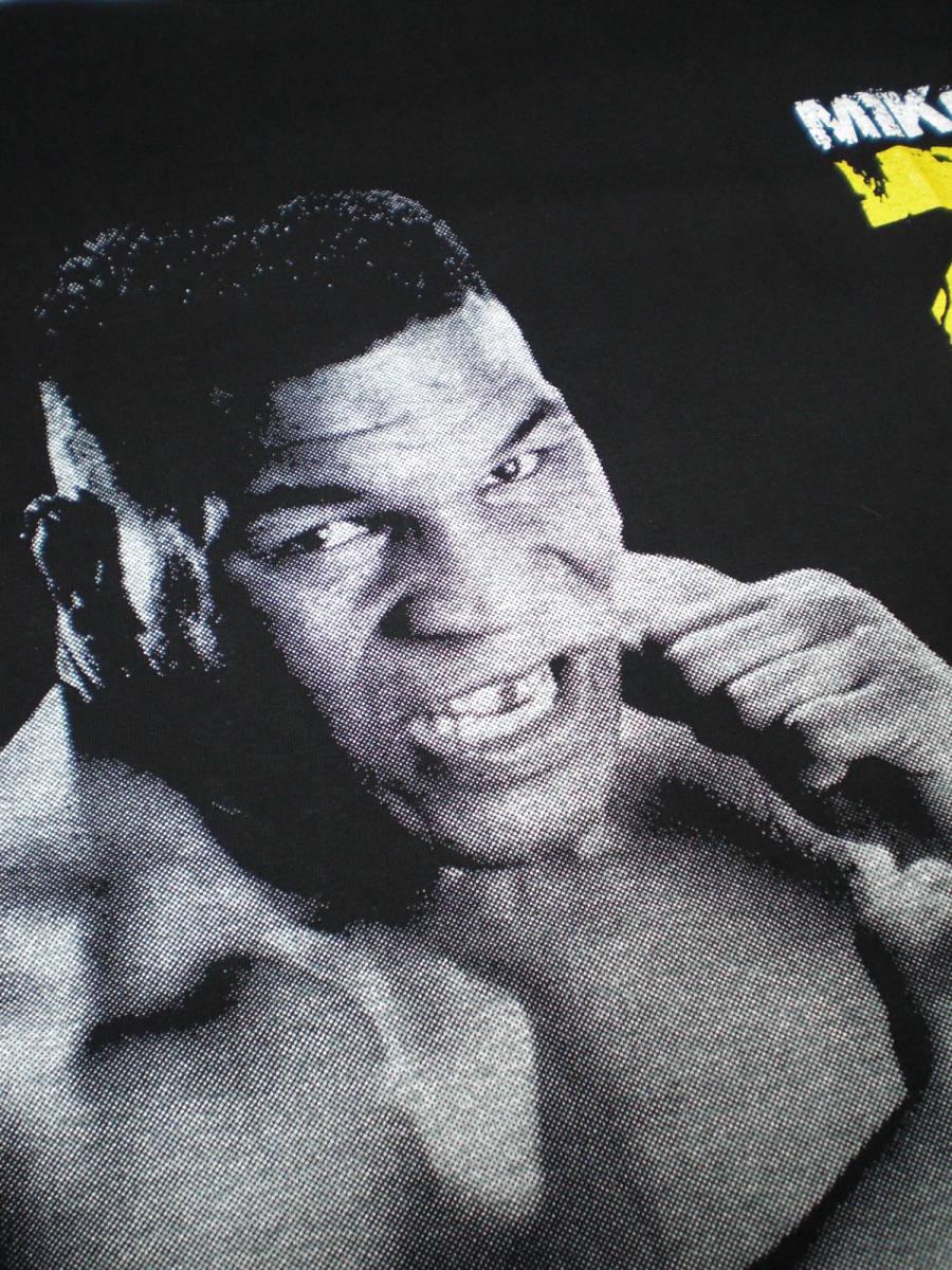 新品 ボクシングTシャツ 黒 ブラック Lサイズ マイク・タイソン 強さの象徴 元統一世界ヘビー級チャンピオン かっこいい 人気 おすすめ_画像3