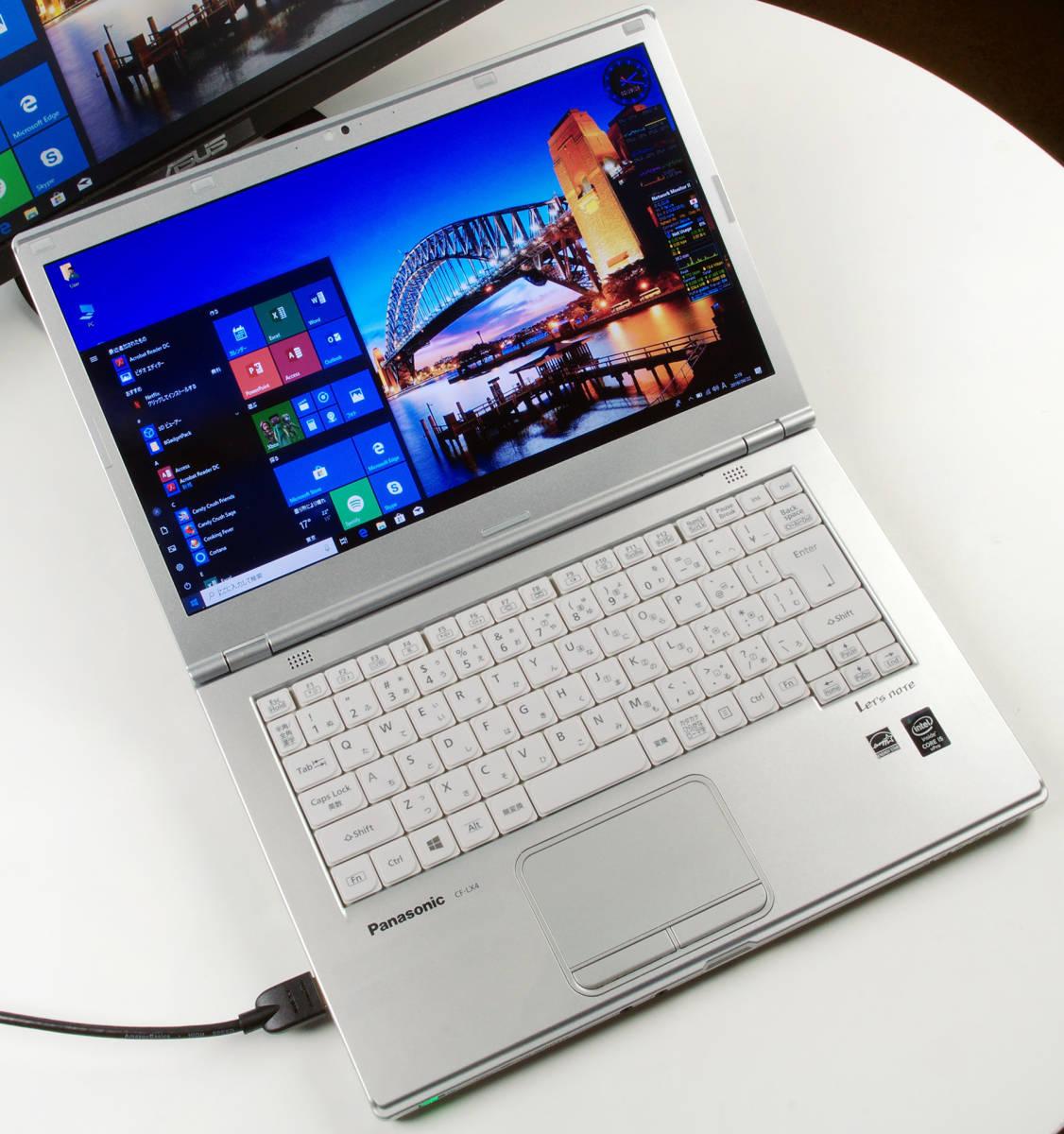 Let'sNote CF-LX4 Corei5(5300U) Mem8GB 新SSD480GB Webカメラ+無線LAN Win10Pro64bit Ver.1809 バッテリー良好