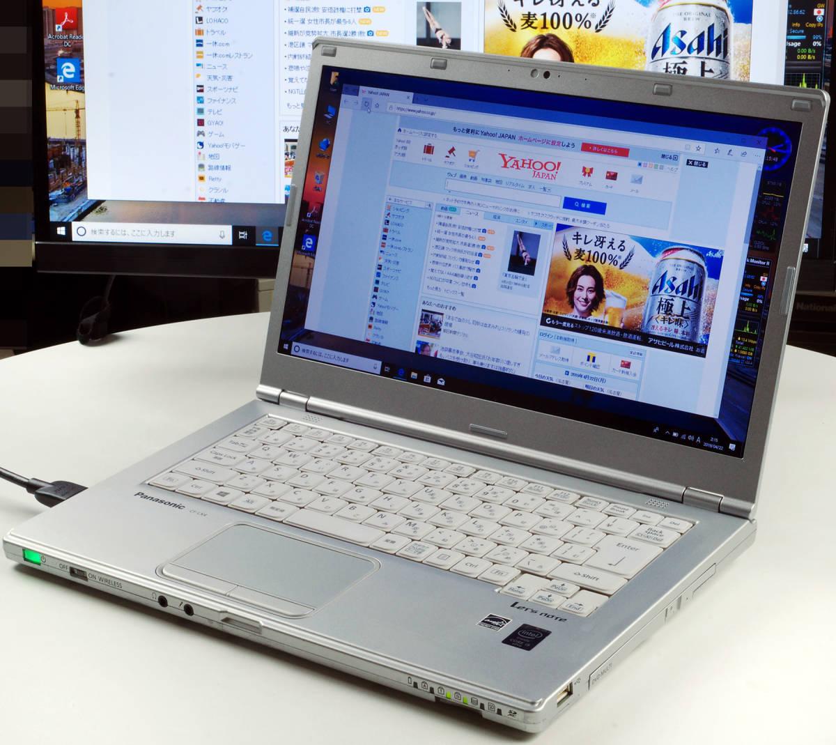 Let'sNote CF-LX4 Corei5(5300U) Mem8GB 新SSD480GB Webカメラ+無線LAN Win10Pro64bit Ver.1809 バッテリー良好_画像2