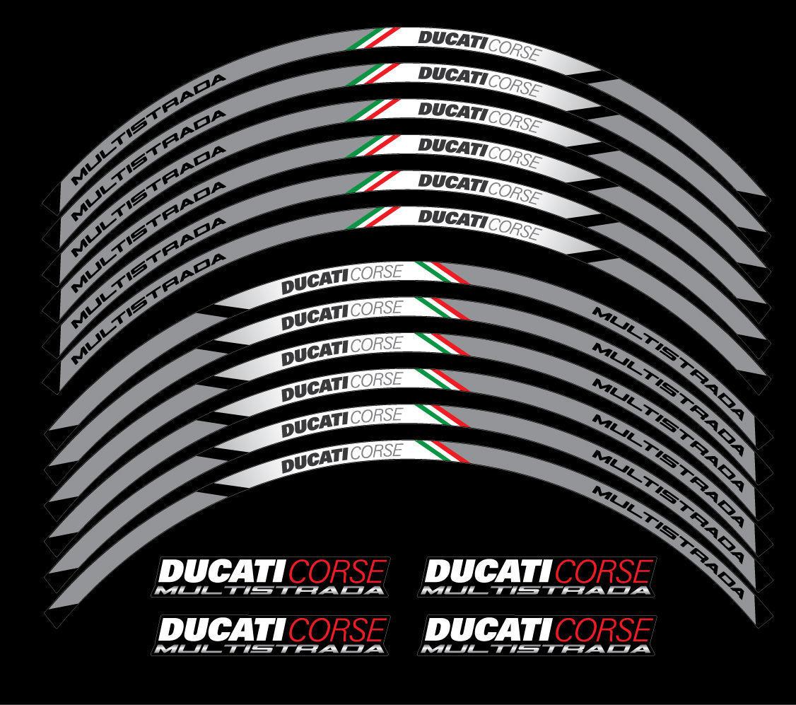 Ducati Multistrada 1200 Corse ドゥカティ ホイル ホイール ステッカー シール デカール セット_画像1