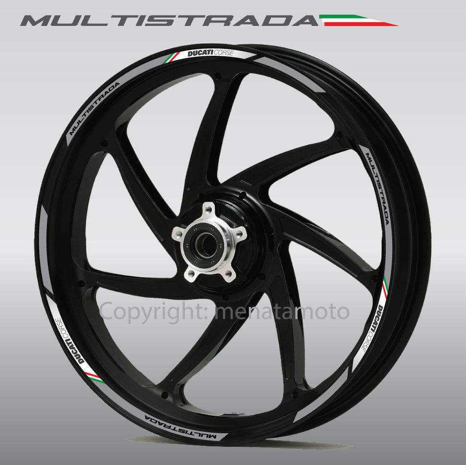 Ducati Multistrada 1200 Corse ドゥカティ ホイル ホイール ステッカー シール デカール セット_画像2