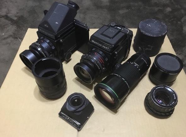 PENTAX 6×7 105mm 1:2.4 + ファインダー + PENTAX-A ☆ 645 1:4 300mm + Mamiya RB67 レンズセット × 2 他色々 ペンタックス