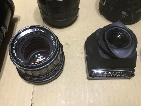 PENTAX 6×7 105mm 1:2.4 + ファインダー + PENTAX-A ☆ 645 1:4 300mm + Mamiya RB67 レンズセット × 2 他色々 ペンタックス_画像4