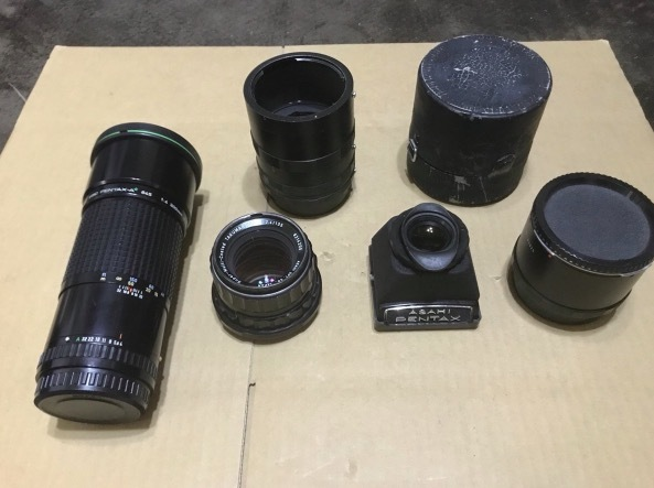 PENTAX 6×7 105mm 1:2.4 + ファインダー + PENTAX-A ☆ 645 1:4 300mm + Mamiya RB67 レンズセット × 2 他色々 ペンタックス_画像3