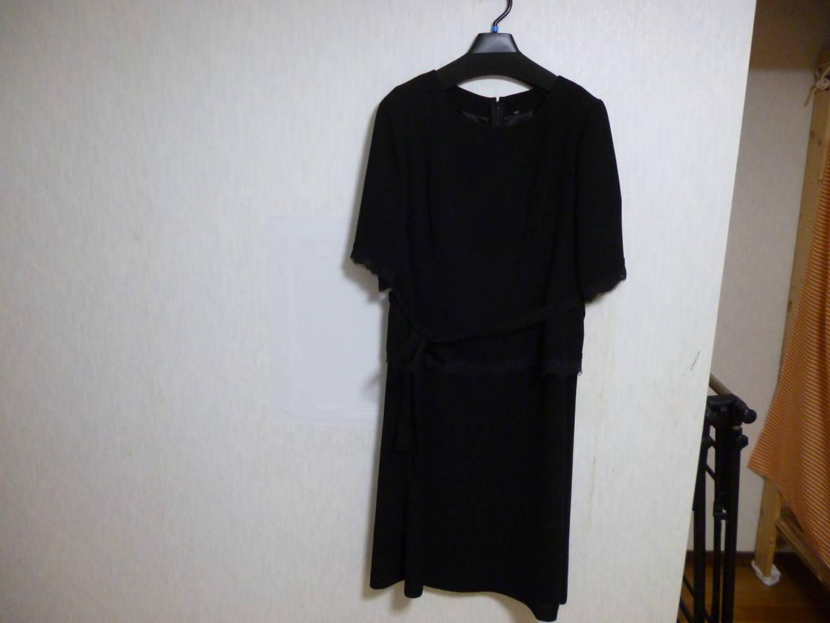 eb228027b5dd7 セシール ブラック フォーマル 五分袖ワンピース サイズ15ABR   Buyee ...