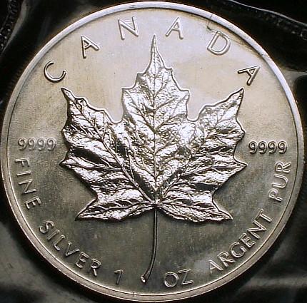 【カナダ大型銀貨】(1オンス純銀 1990年銘)_画像2