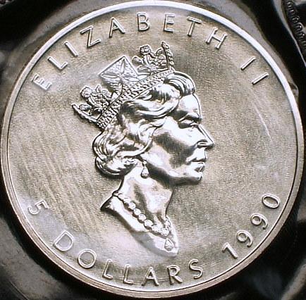 【カナダ大型銀貨】(1オンス純銀 1990年銘)_画像3