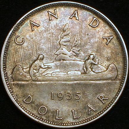 【英領カナダ大型銀貨】(1935年銘 23.3g トーン)
