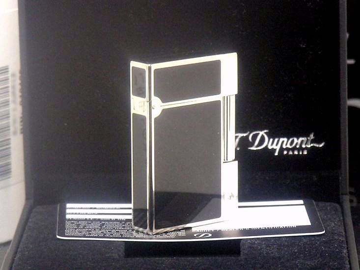 【即決】 新品未使用品 日本限定 ブラック S.T.Dupont ガスライター ギャッツビー◆デュポン ギャツビー 葉巻iたばこ喫煙具グッズ_画像4