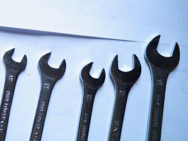 【工具】旭金属工業 ASH 極薄両口スパナセット 8×9、10×12、11×13、14×17、19×21 5本組 美品動作品_画像4