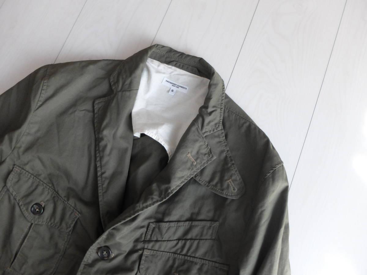 新品同様★人気★春★ Engineered Garments エンジニアードガーメンツ Ghurka jacket-French Twill オリーブS_画像2