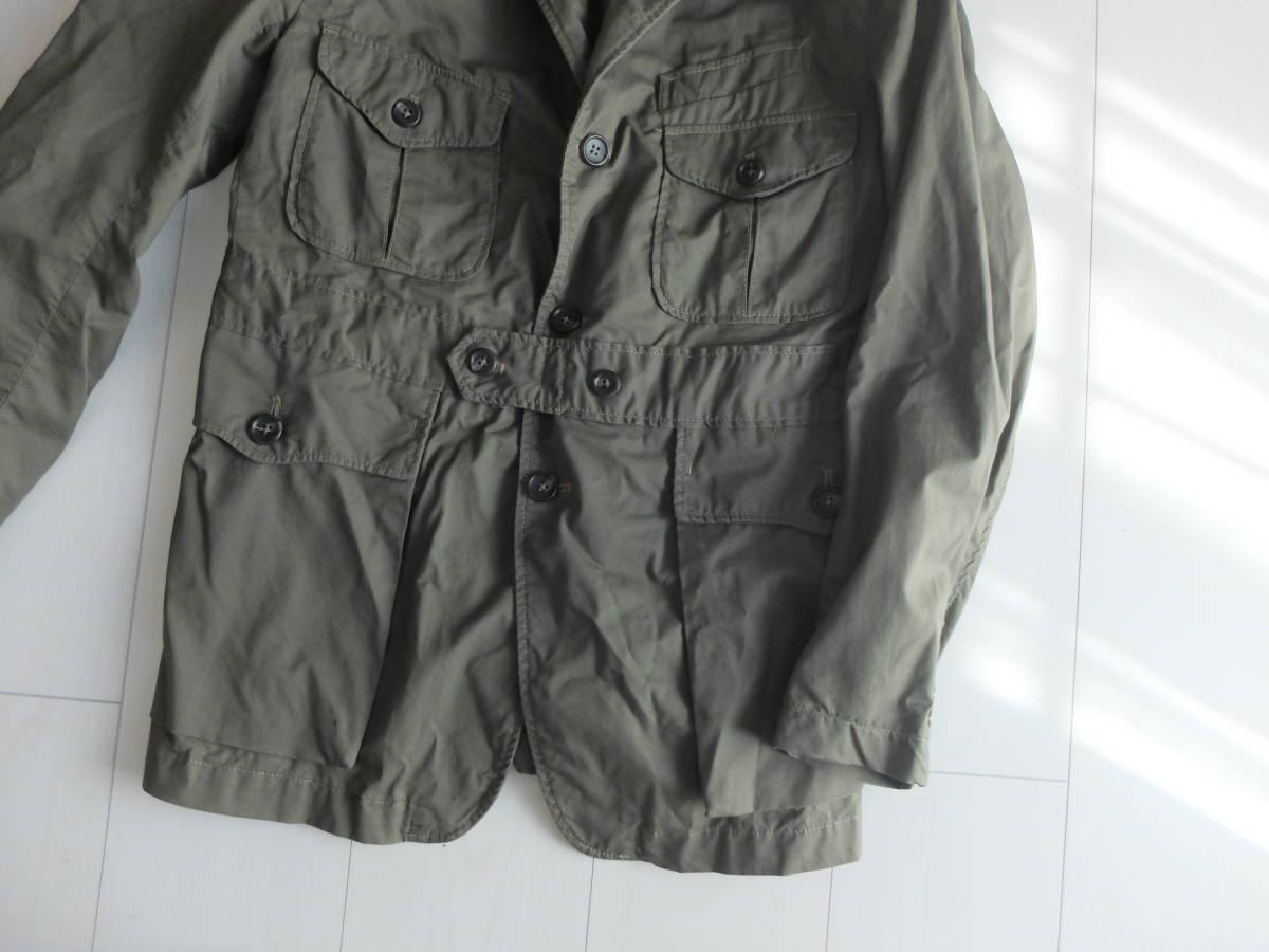 新品同様★人気★春★ Engineered Garments エンジニアードガーメンツ Ghurka jacket-French Twill オリーブS_画像3