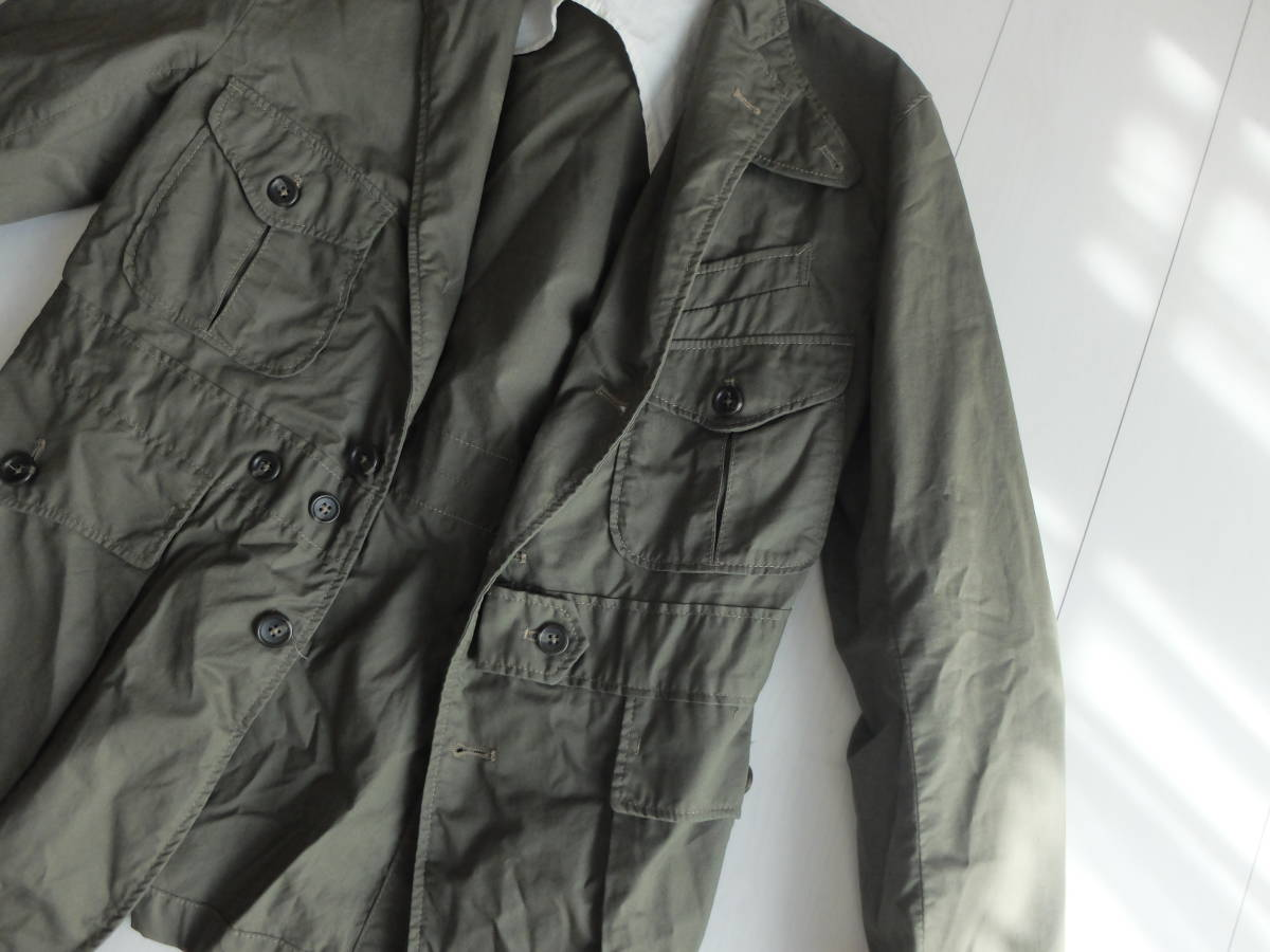 新品同様★人気★春★ Engineered Garments エンジニアードガーメンツ Ghurka jacket-French Twill オリーブS_画像6