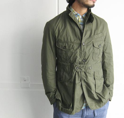 新品同様★人気★春★ Engineered Garments エンジニアードガーメンツ Ghurka jacket-French Twill オリーブS_画像10