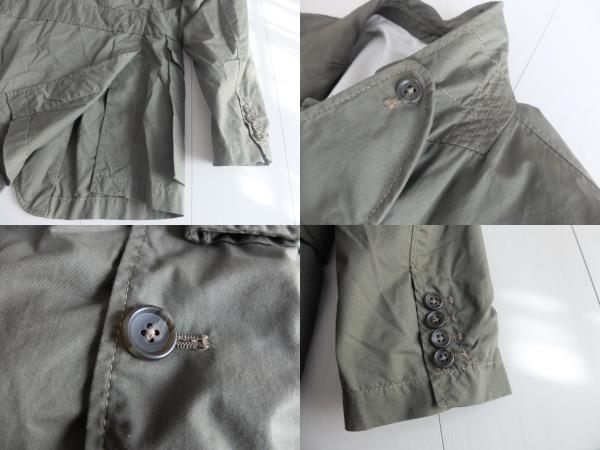 新品同様★人気★春★ Engineered Garments エンジニアードガーメンツ Ghurka jacket-French Twill オリーブS_画像8