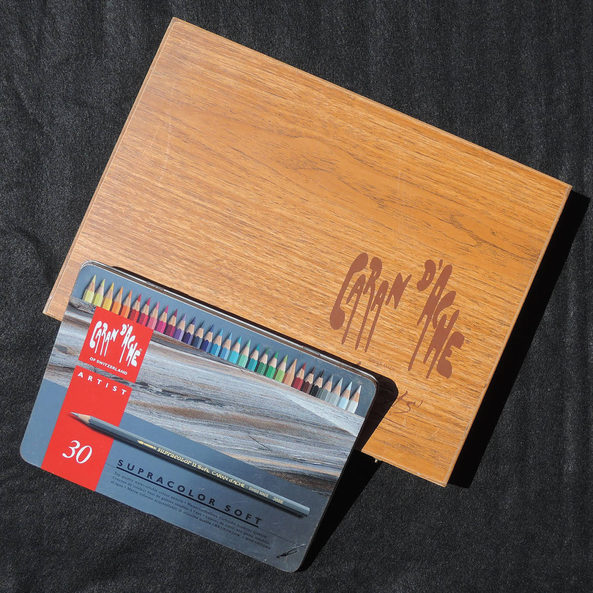 CARAN d'ACHE カランダッシュ Neocolor II ネオカラー x 72色 Supracolor II Soft x 10 + 30色