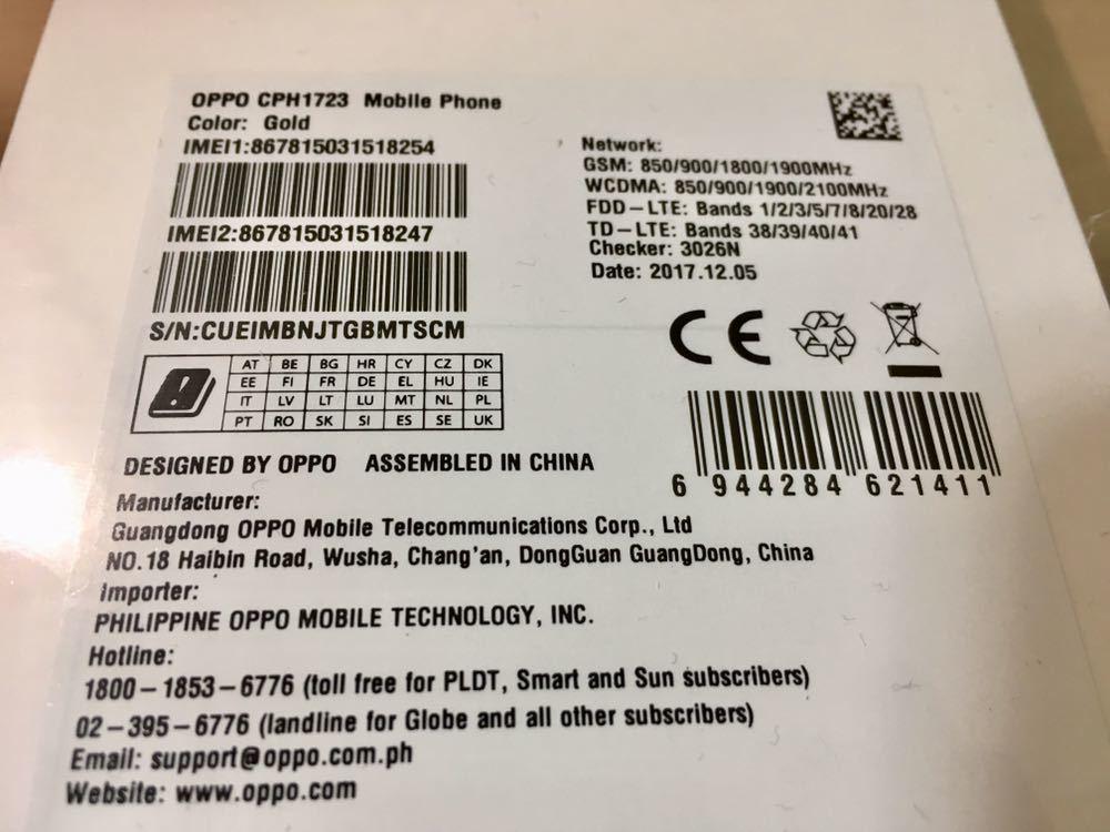 OPPO F5 海外スマホ SIMフリー オッポ 無音シャッター 留学 フィリピン タイ 旅行 アジア_画像2