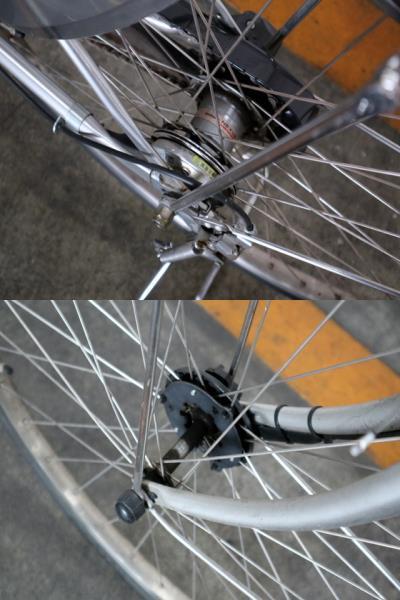 ★7001 PANASONIC 電動アシスト自転車 ビビ・DX 26型 内装3段変速 プラズマシルバー(BE-END636S) ★_画像8