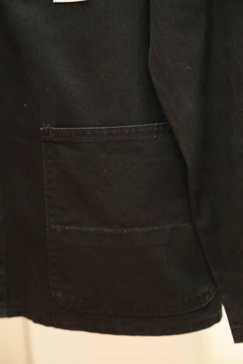 ★ドイツ製kempelケンペル着脱式裏地付き(日本製)ライトコート  古着ジャケットJK黒ブラック薄手SMLメンズアウター上着ライナー_画像6