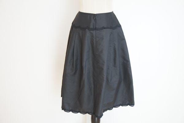 即決 銀座マギー MAGGY 膝丈 フレアースカート 38 ブラック バックジップ ボトムス レディース [552569] クリックポストも可能です! #⑥_後