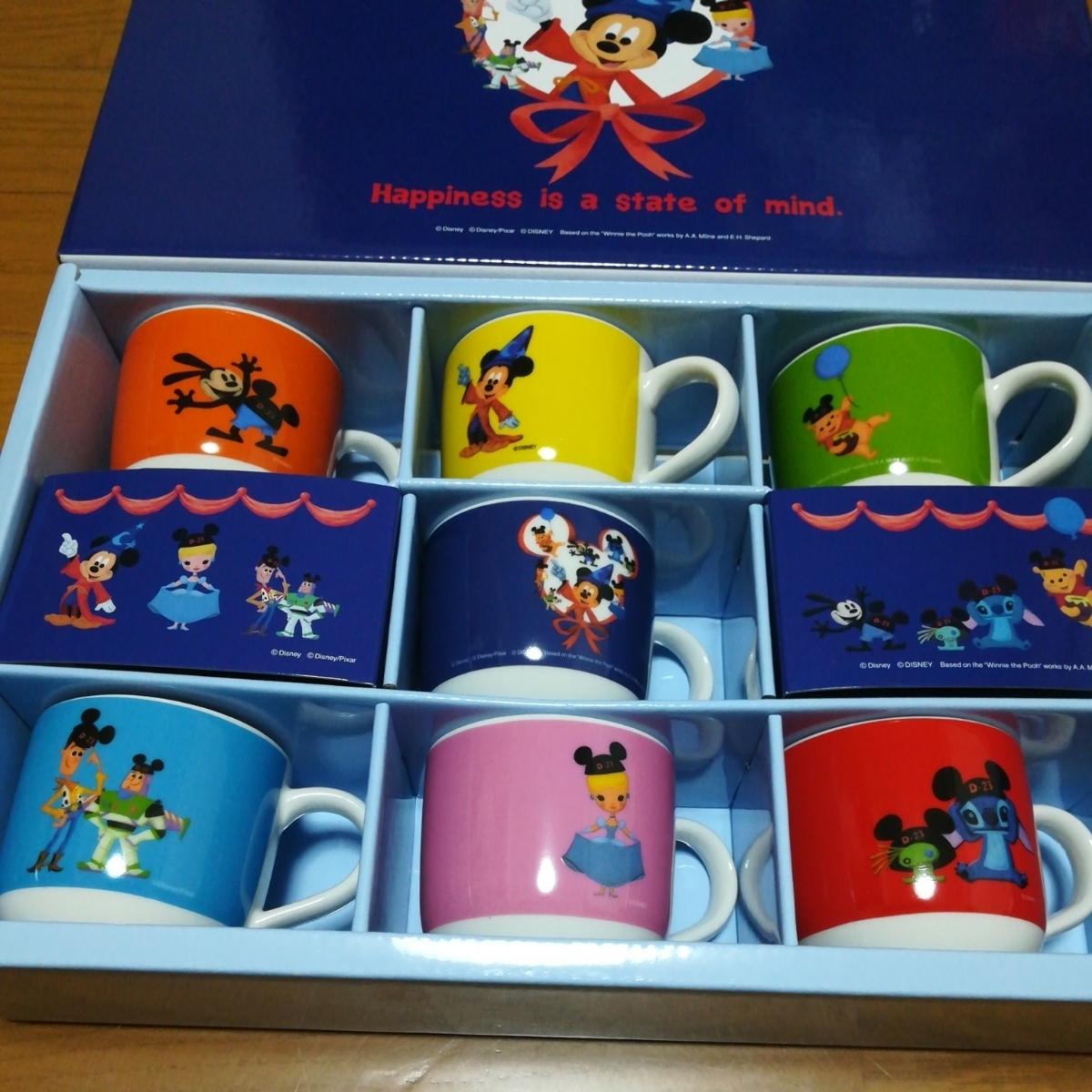 即決非売品ディズニー オリジナルミニマグカップ7個セット_画像2