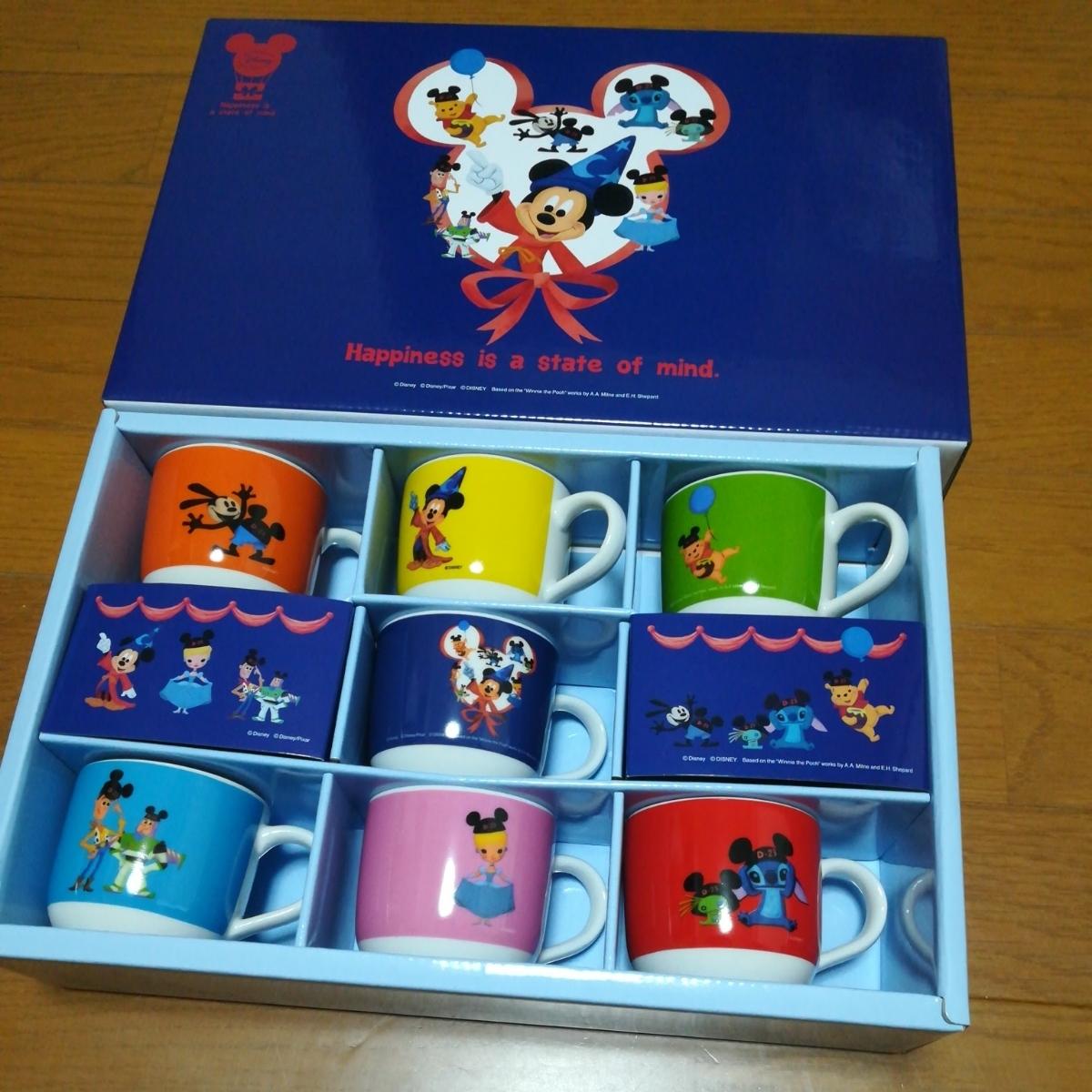 即決非売品ディズニー オリジナルミニマグカップ7個セット_画像1