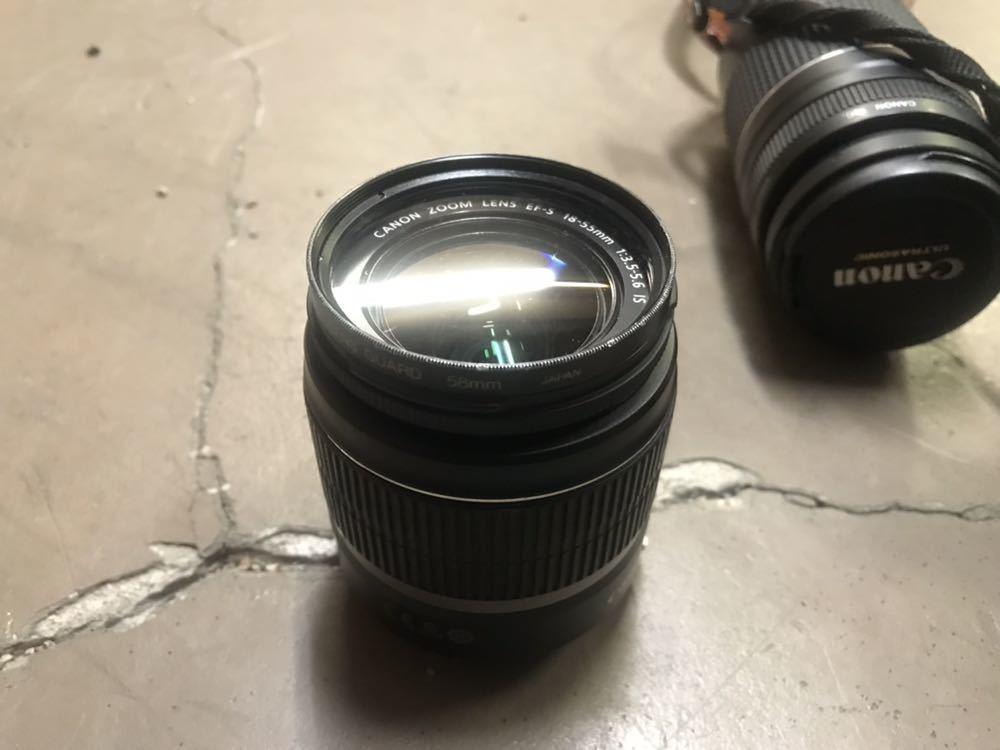 Canon キャノン EOS Kiss X4 ダブルズームキット カメラ デジタル 一眼 売り切り _画像3