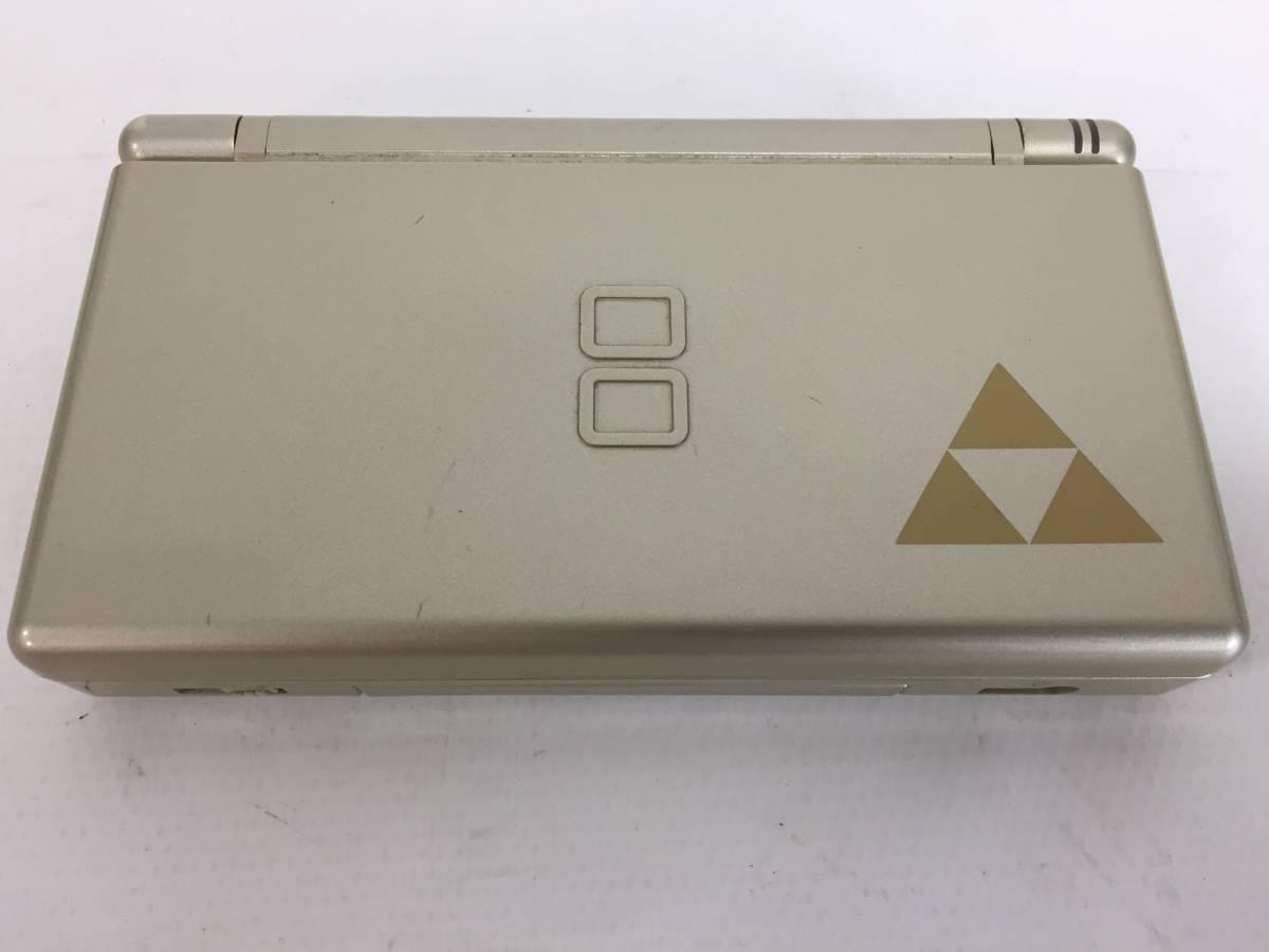 ニンテンドー DS Lite 本体 ゴールド DSライト ゼルダの伝説仕様 海外版 北米版 タッチペン アダプター 取説 箱付 動作品 Nintendo1904414_画像4