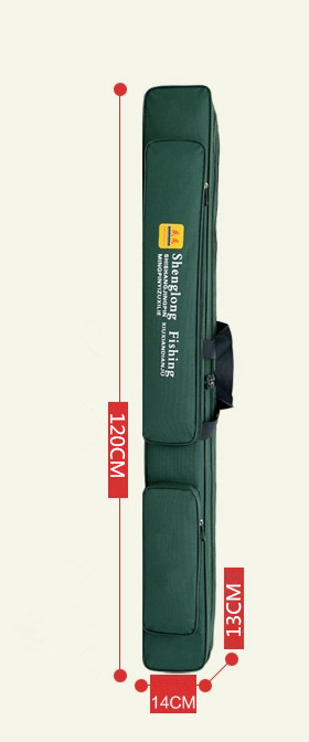 【高品質】防水性 釣り用品 ポータブルバッグ肩掛け 持ち運び便利 、釣り具 ブラック-120cm _画像2