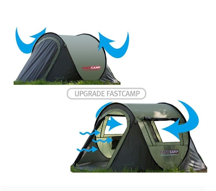 設営時間短縮!ワンタッチドーム型テント簡単展開 アウトドア キャンプバーベキューBBQ 3~4人用_画像4