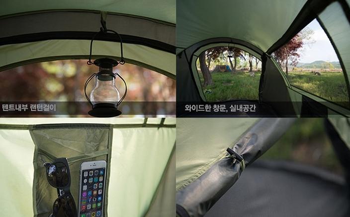設営時間短縮!ワンタッチドーム型テント簡単展開 アウトドア キャンプバーベキューBBQ 3~4人用_画像3