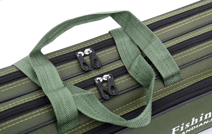 【高品質】防水性 釣り用品 ポータブルバッグ肩掛け 持ち運び便利 、釣り具 ブラック-120cm _画像6