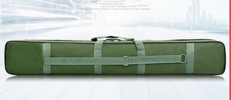 【高品質】防水性 釣り用品 ポータブルバッグ肩掛け 持ち運び便利 、釣り具 ブラック-120cm _画像4