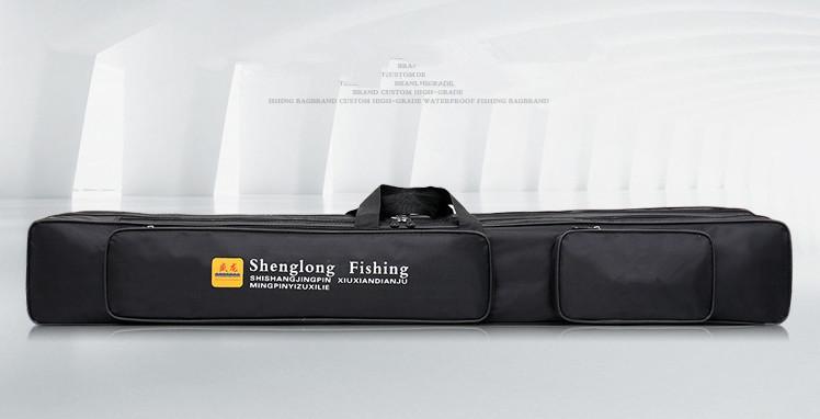 【高品質】防水性 釣り用品 ポータブルバッグ肩掛け 持ち運び便利 、釣り具 ブラック-120cm _画像3