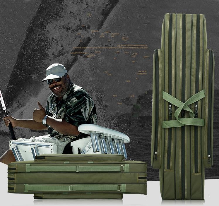 【高品質】防水性 釣り用品 ポータブルバッグ肩掛け 持ち運び便利 、釣り具 ブラック-120cm _画像9