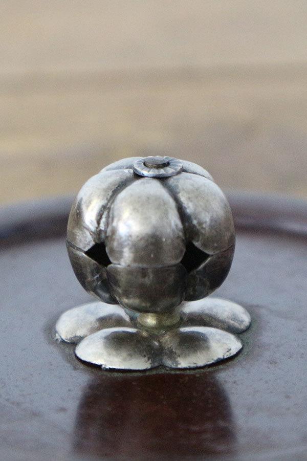 釜師 時代 銀摘 岩肌 阿弥陀形 鉄瓶 ※商品説明欄に画像有り_画像5