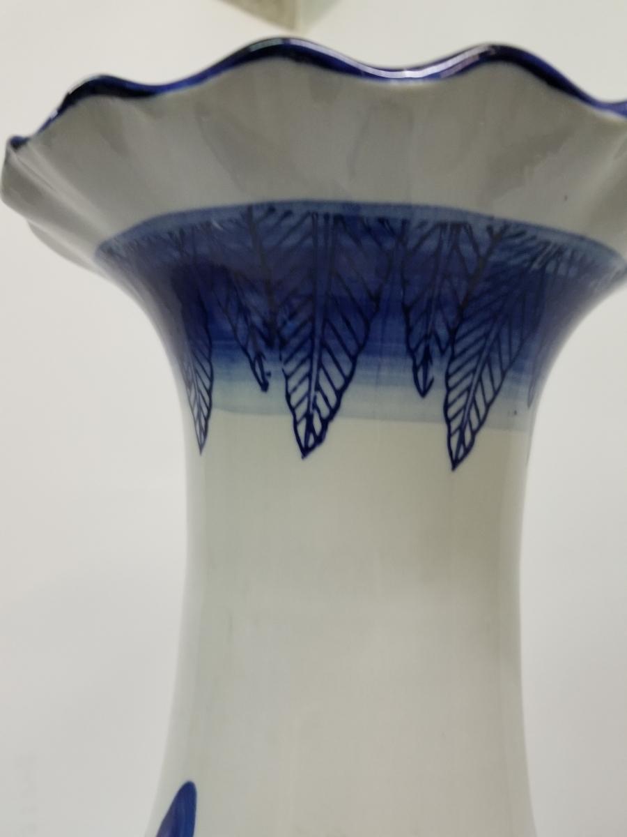 特大 ツボ 壺 花瓶 大 壷 花道具 花入  山水画 骨董 和風 置物 高さ 61cm前後_画像3