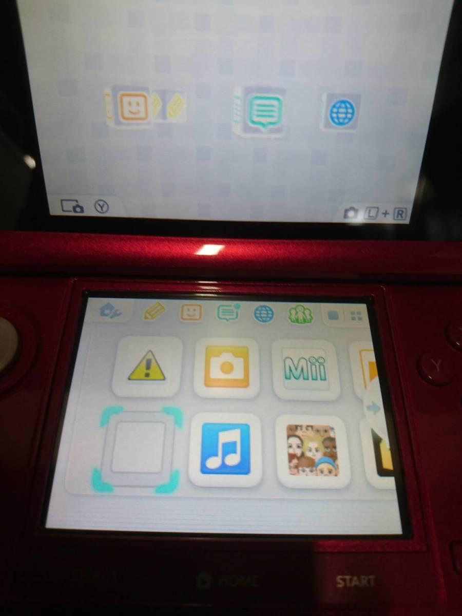【消費税なし・最高級美中古品】CTR-001/任天堂/Nintendo/3DS/本体/レッド/QM48LL_画像4