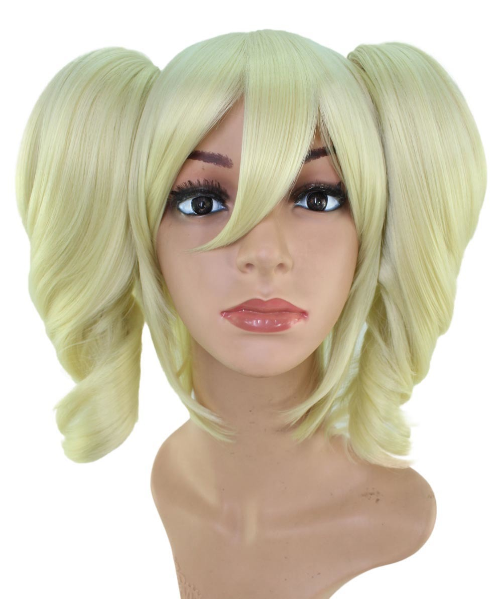 Immediate disposal! Cheap! First come, first served! Cosplay Wig*Wigs2you☆3-Piece Set*C-023*twin tail/platinum blonde*blonde
