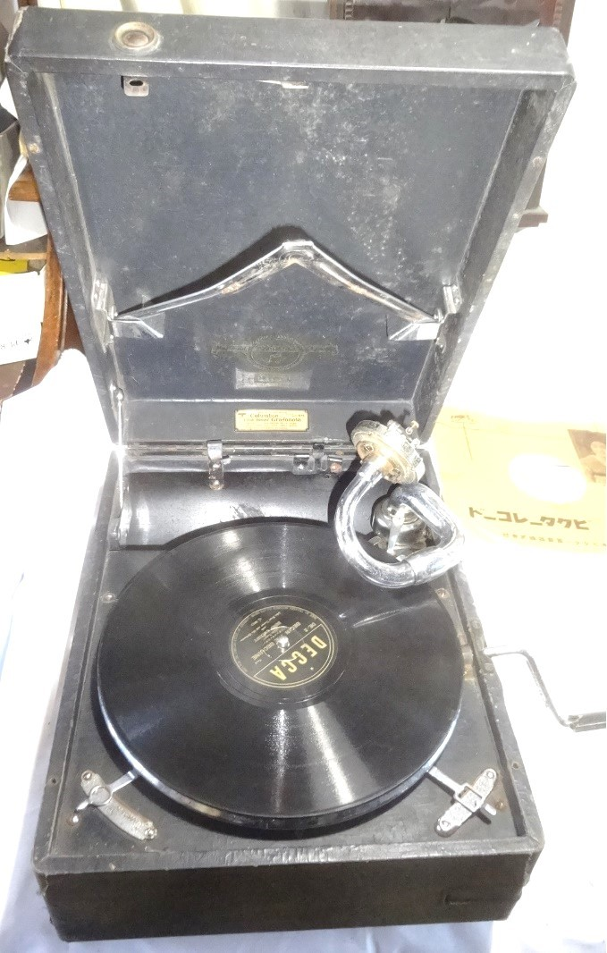 d230 Columbia viva-tonal Grafonola モデル203A ポータブル蓄音機
