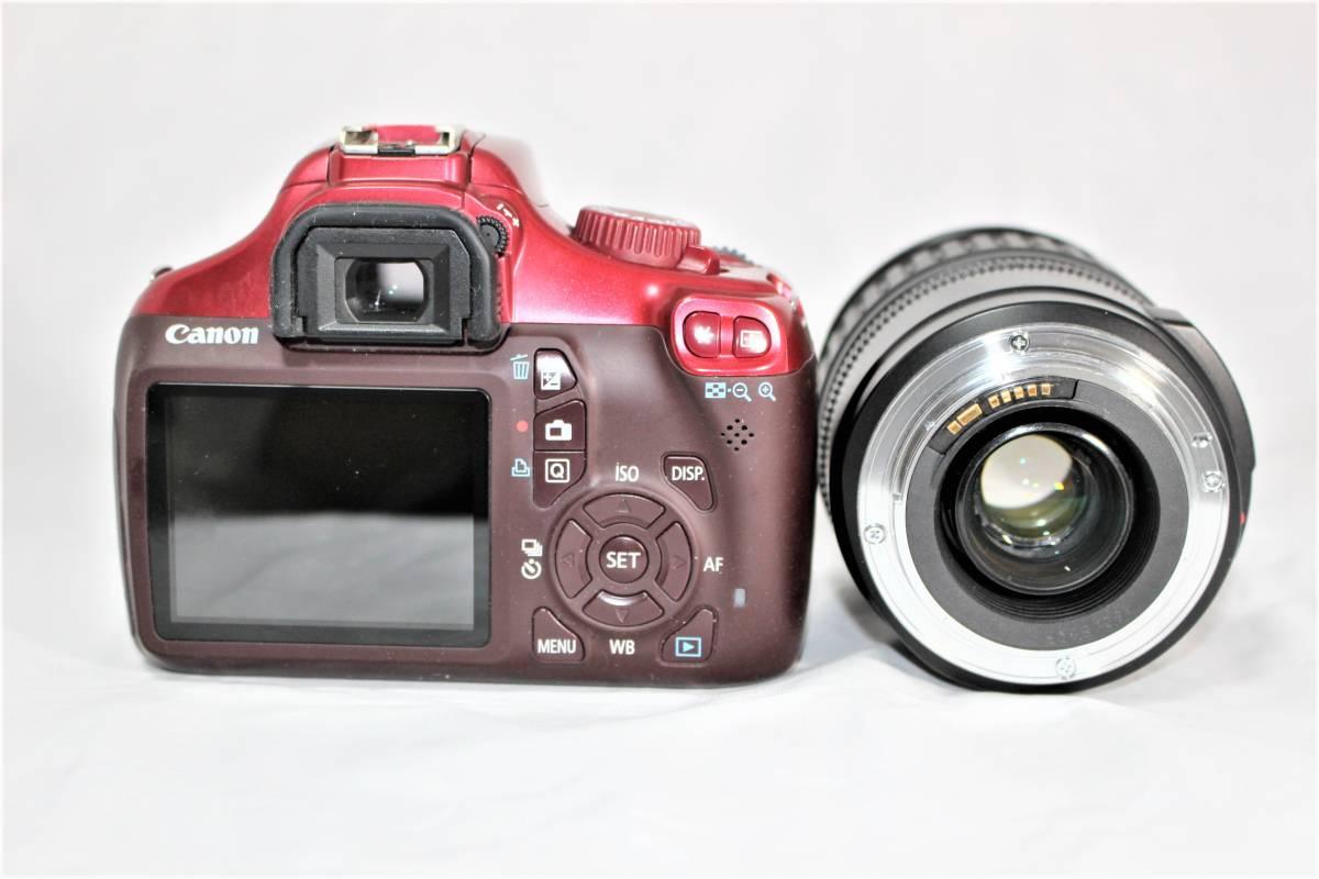 ★人気のレッド★ キャノン Canon デジタル一眼レフカメラ EOS Kiss X50 EF28-135mm レンズセット■SDカード付き■K-23A19-147_画像3