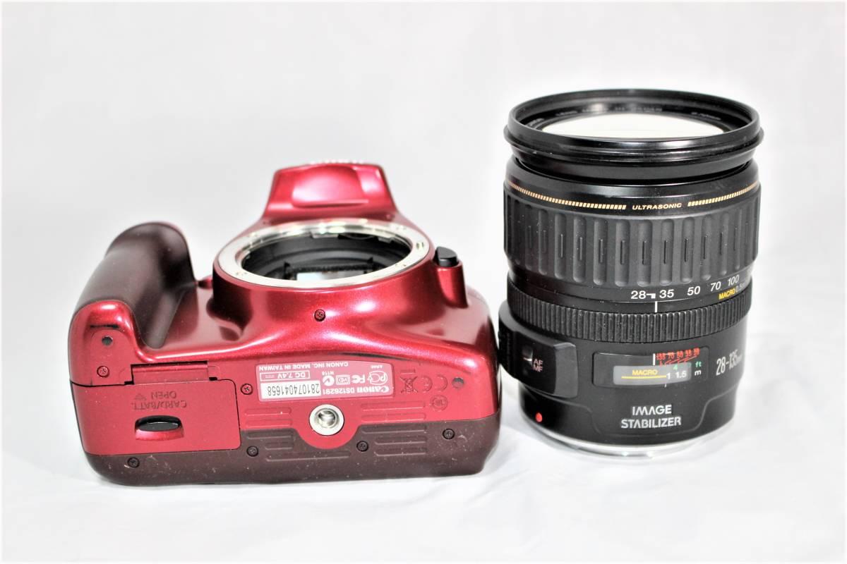 ★人気のレッド★ キャノン Canon デジタル一眼レフカメラ EOS Kiss X50 EF28-135mm レンズセット■SDカード付き■K-23A19-147_画像4