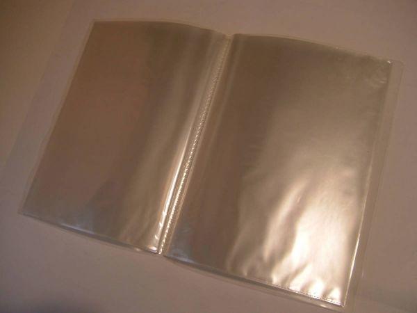 即決 20ポケット 薄型クリアファイル2冊 A4 無色_画像3