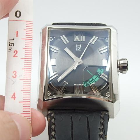 G16793 ミナセ MINASE VY03-K07S オートマ シースルーバック 純正ベルト劣化 腕時計【可動中】_画像5